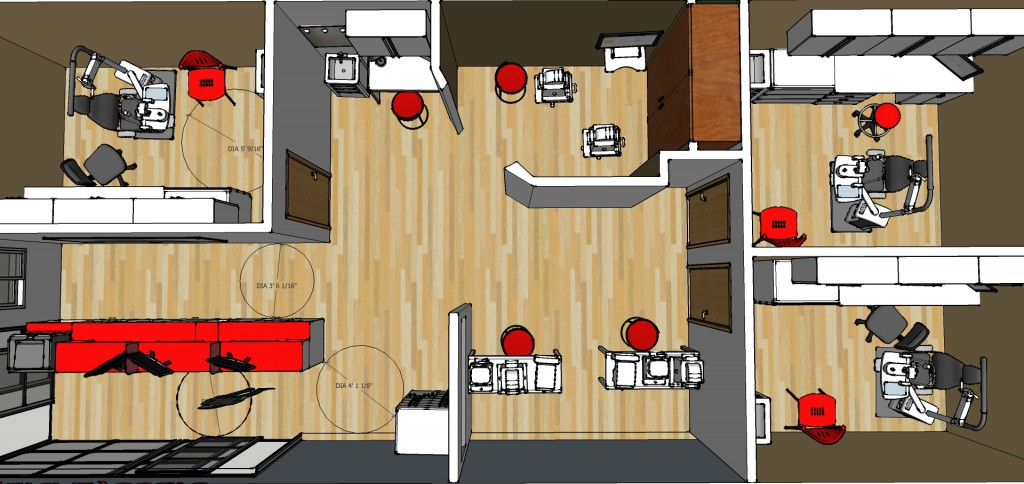 Tigard Eyecare Office Plan 1-Top down